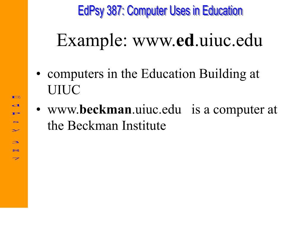 Example: www.