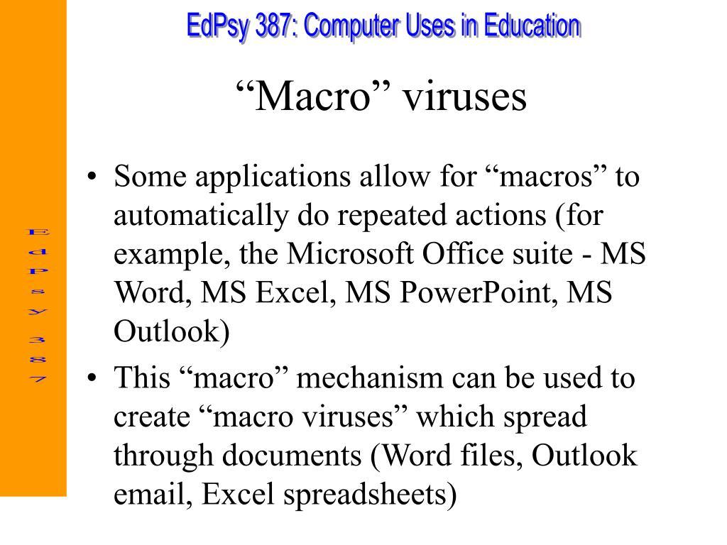 """""""Macro"""" viruses"""