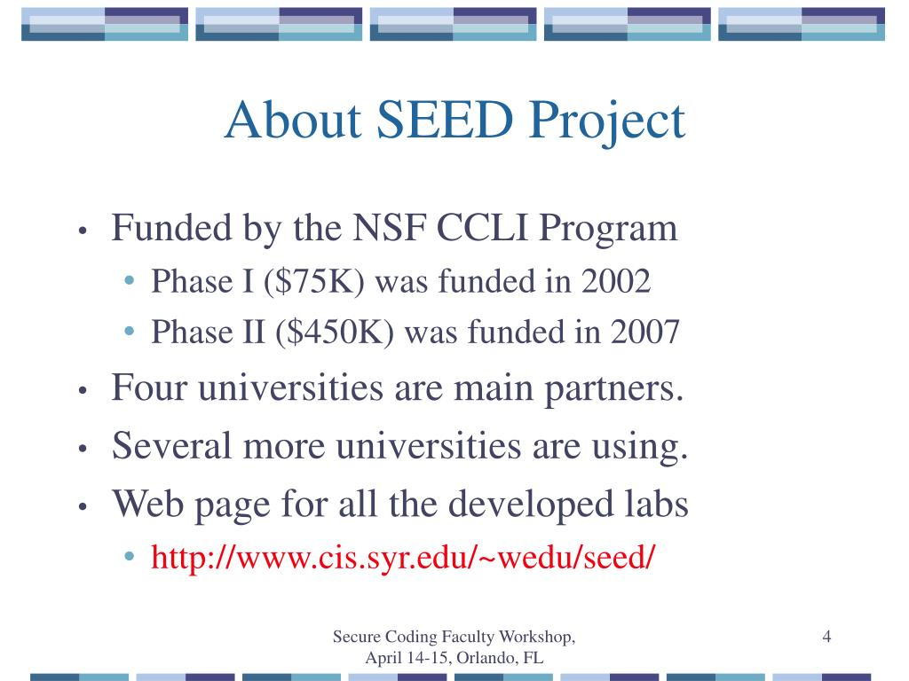 About SEED Project