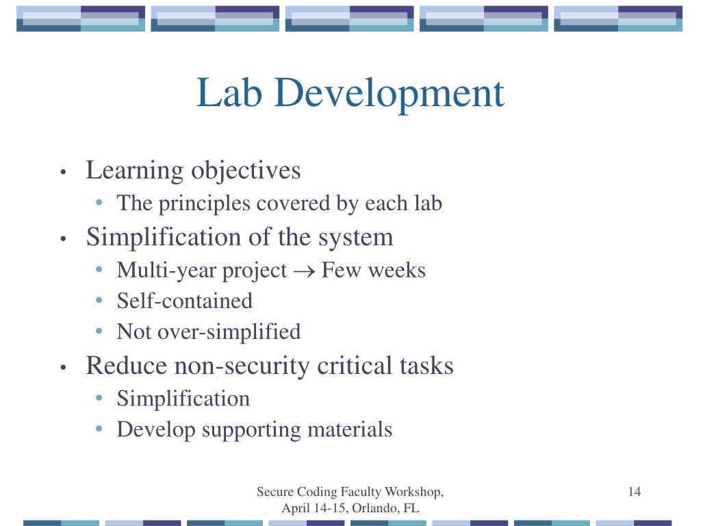 Lab Development