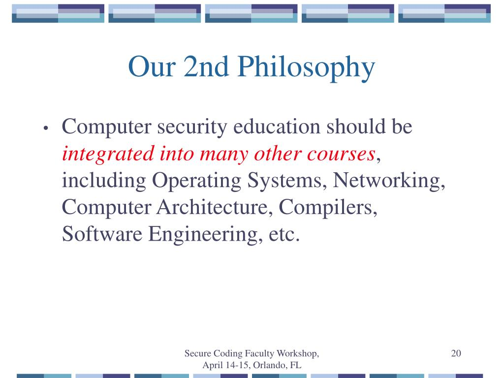 Our 2nd Philosophy