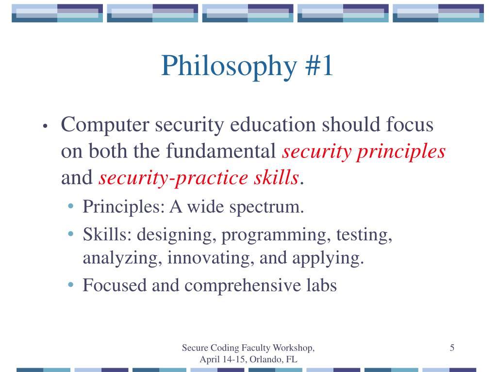 Philosophy #1
