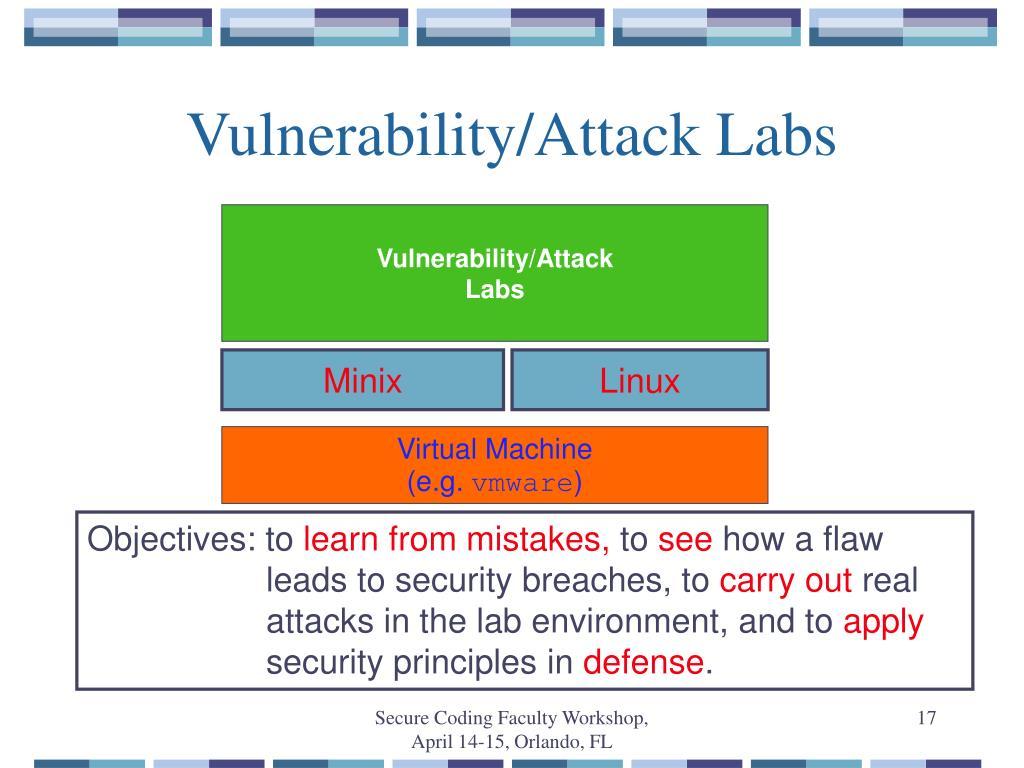 Vulnerability/Attack Labs