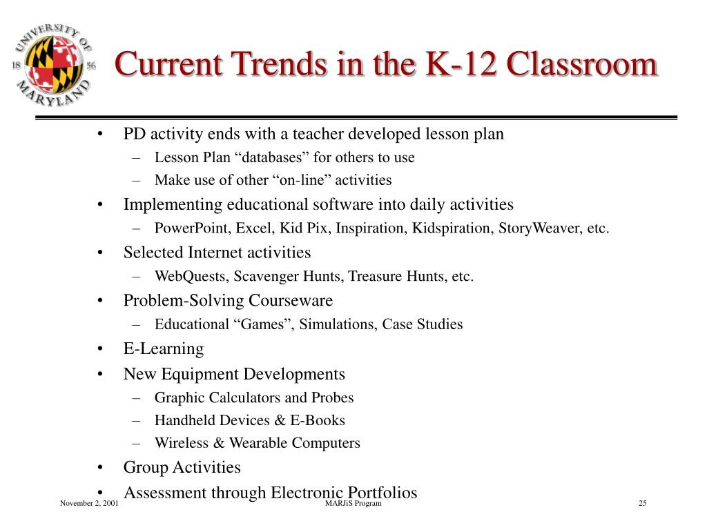 Current Trends in the K-12 Classroom