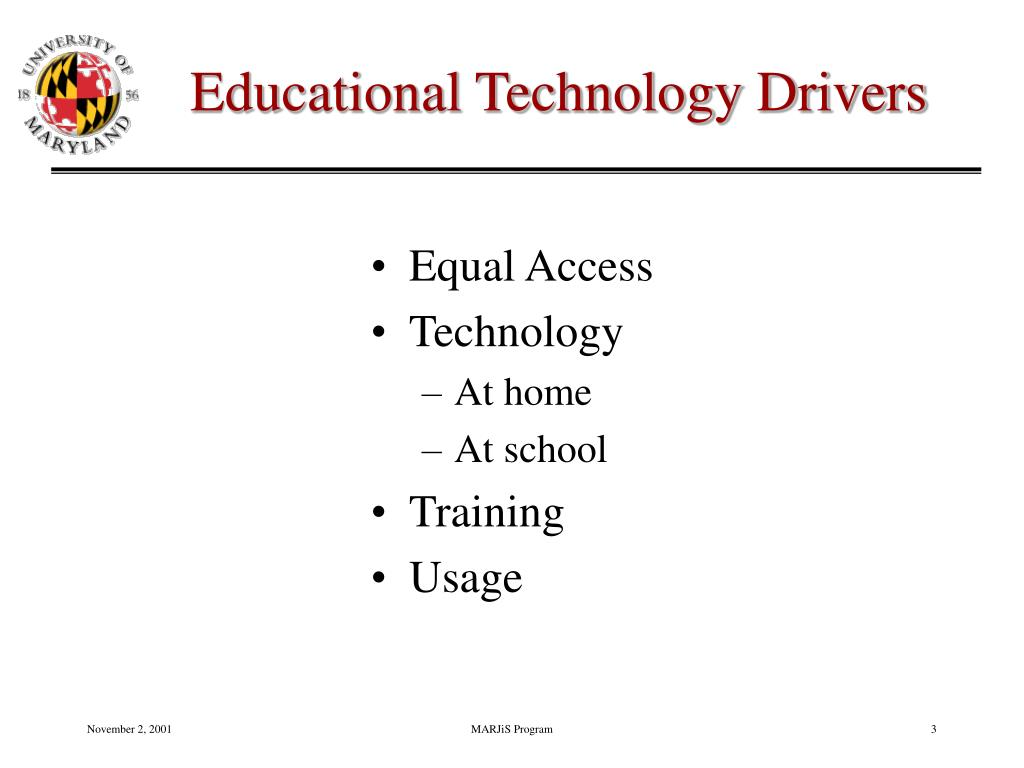 Educational Technology Drivers