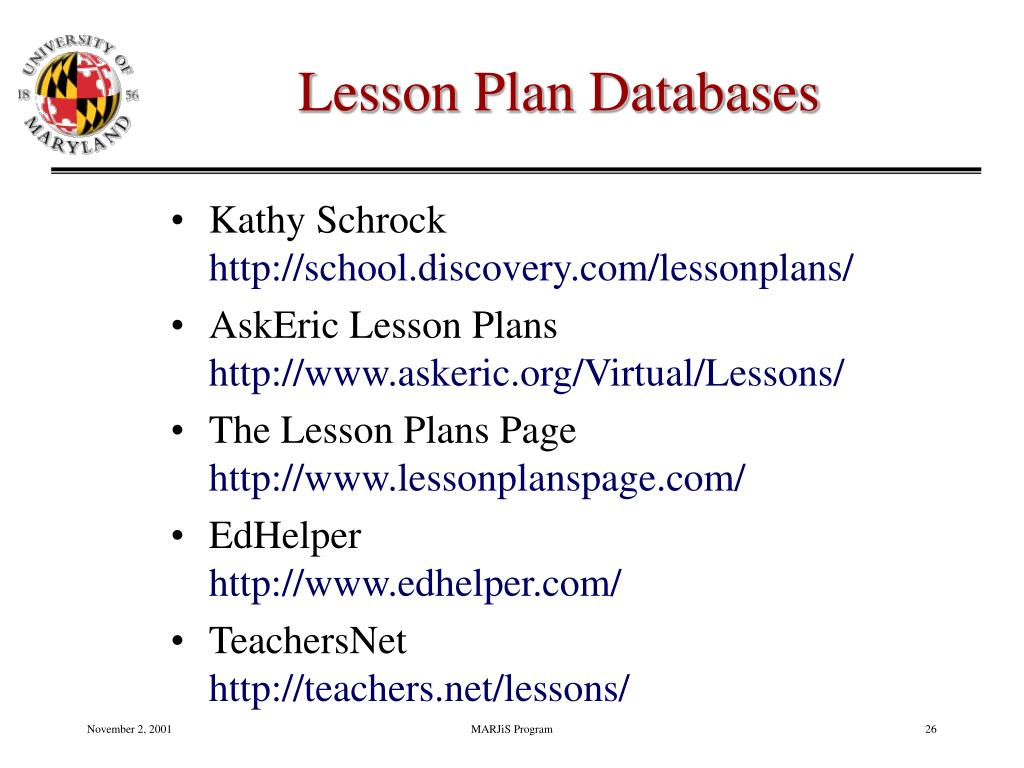 Lesson Plan Databases