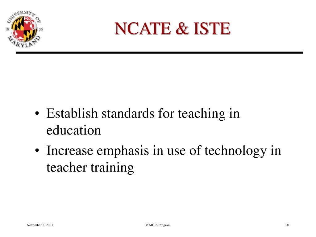 NCATE & ISTE