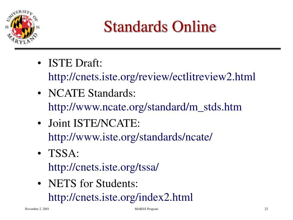 Standards Online