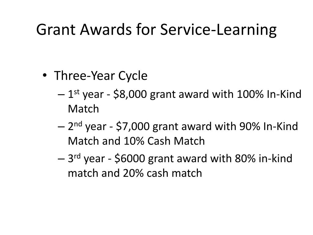 Grant Awards for Service-Learning