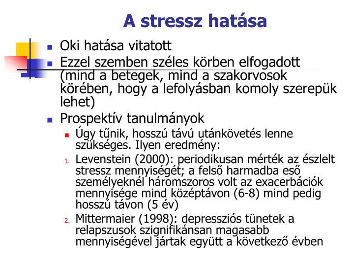 A stressz hatsa