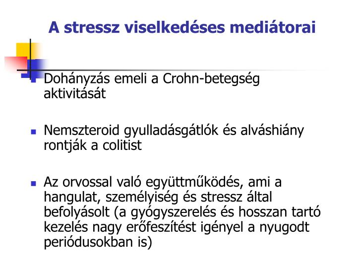 A stressz viselkedses meditorai