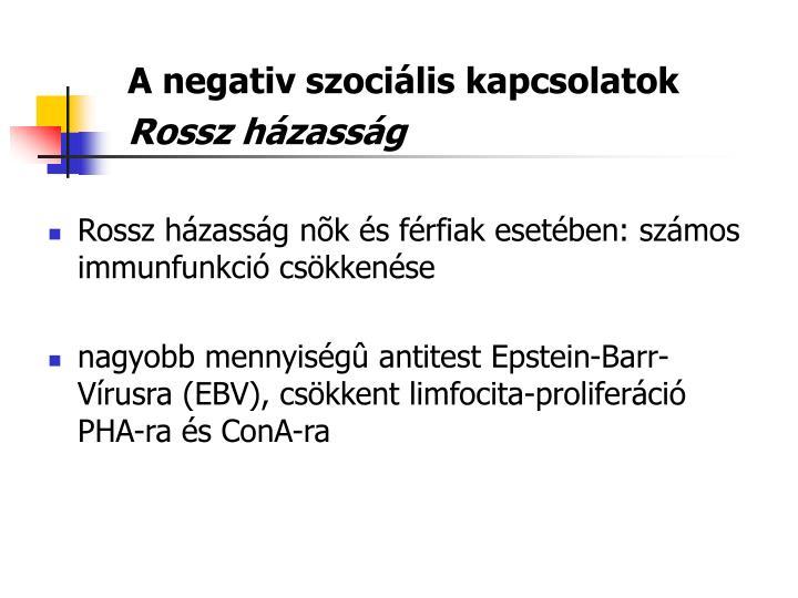 A negativ szocilis kapcsolatok