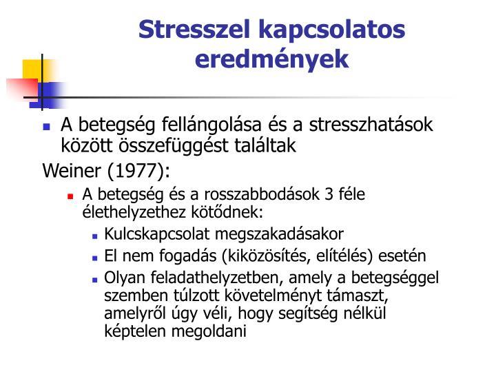 Stresszel kapcsolatos eredmnyek