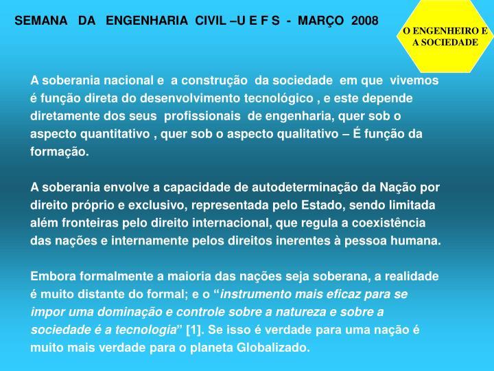 O ENGENHEIRO E
