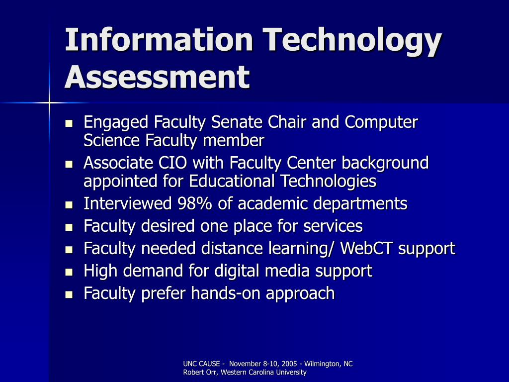Information Technology Assessment