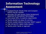 information technology assessment