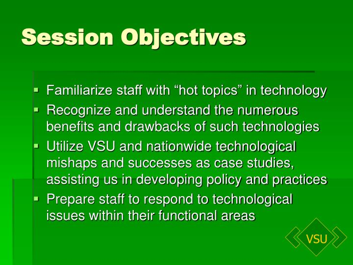 Session objectives