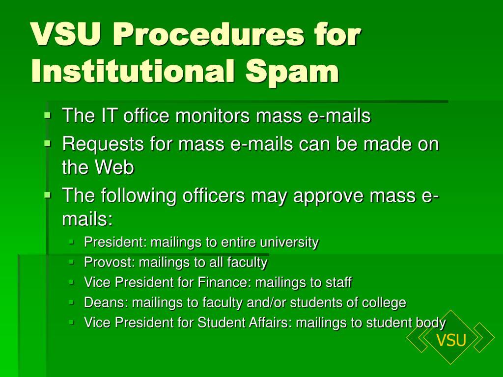 VSU Procedures for