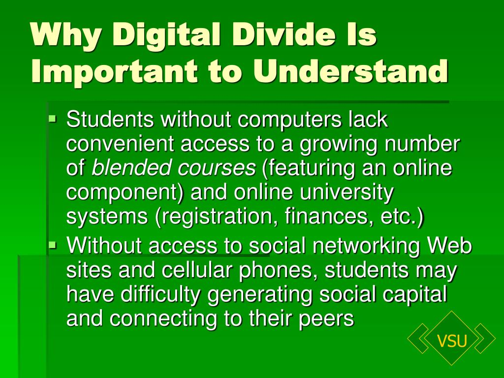Why Digital Divide Is
