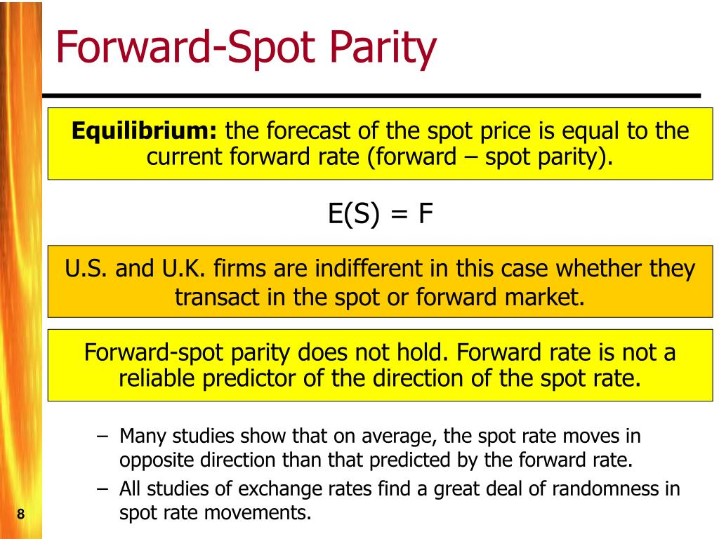 Forward-Spot Parity