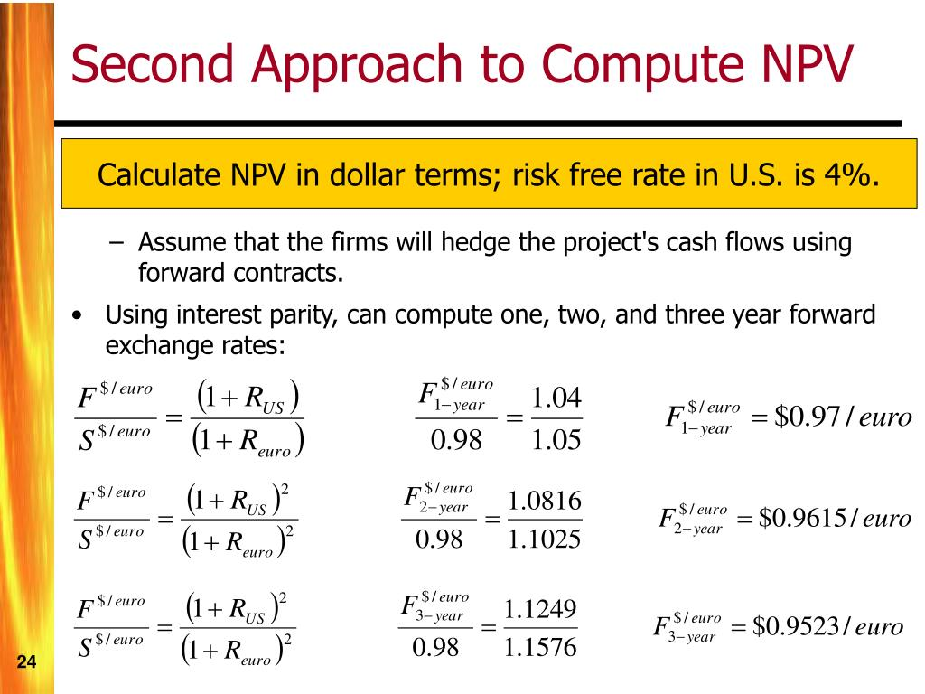 Second Approach to Compute NPV