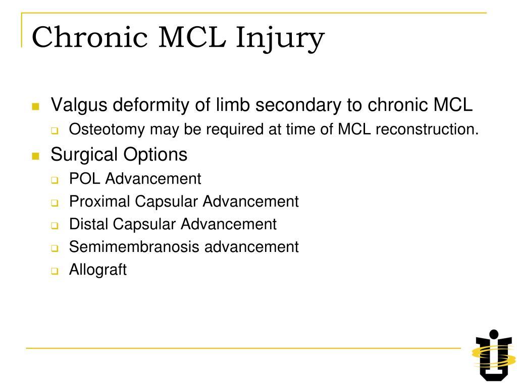 Chronic MCL Injury
