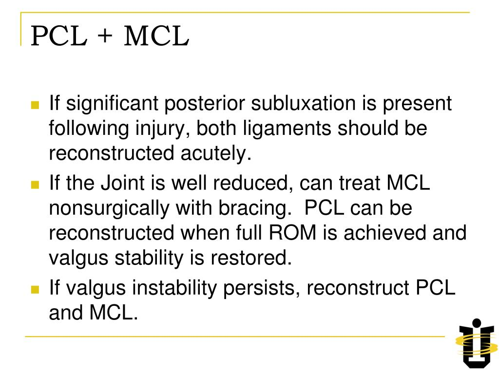 PCL + MCL