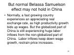 but normal belassa samuelson effect may not hold in china