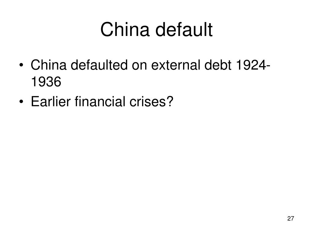China default
