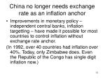 china no longer needs exchange rate as an inflation anchor
