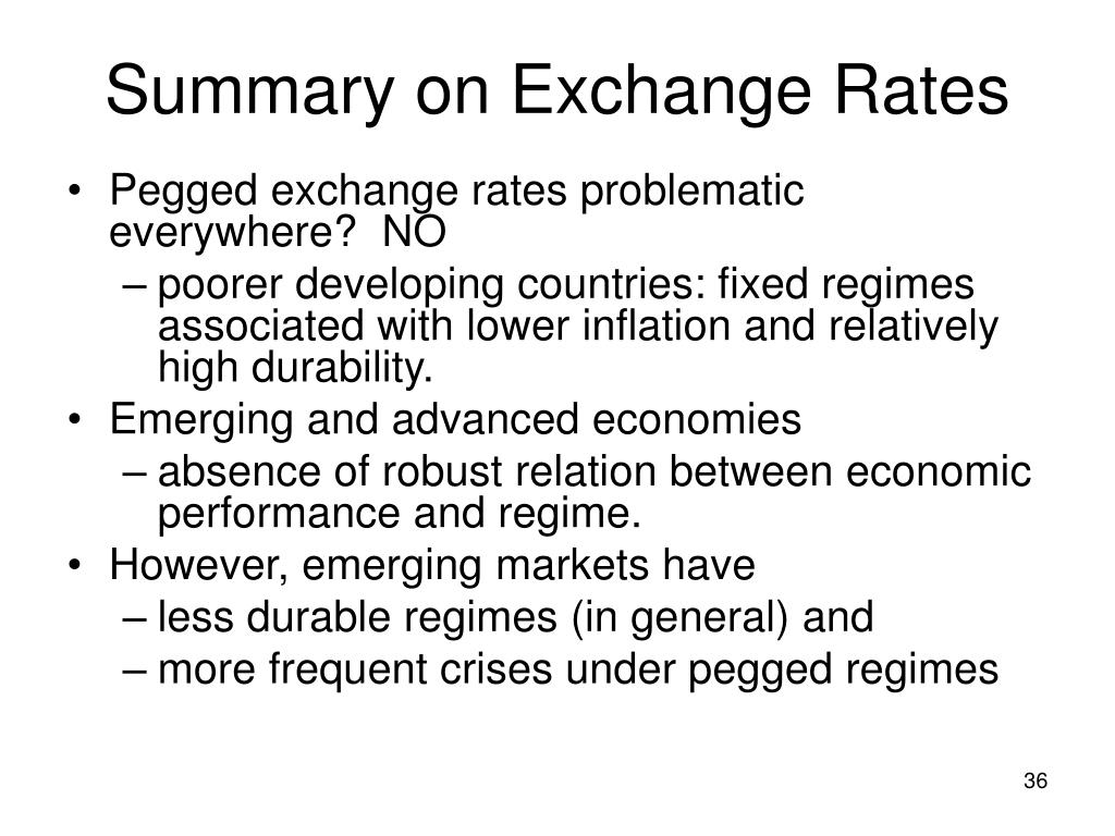 Summary on Exchange Rates