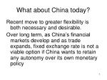 what about china today