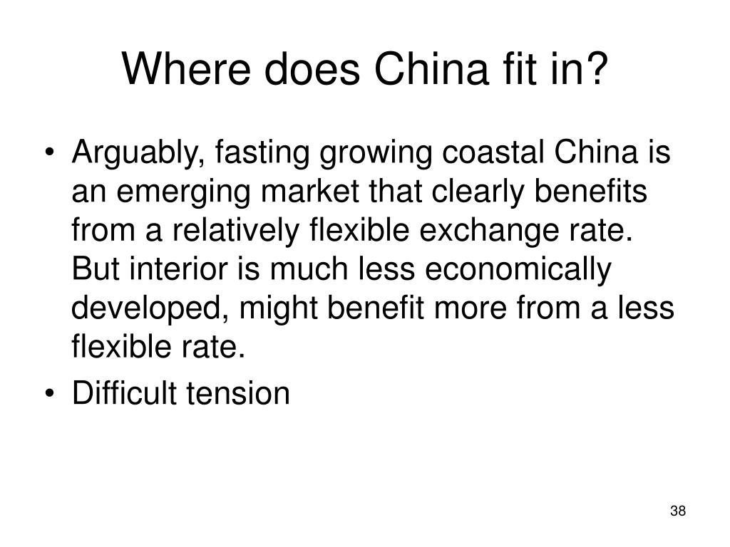 Where does China fit in?