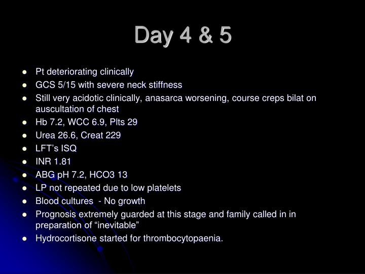 Day 4 & 5
