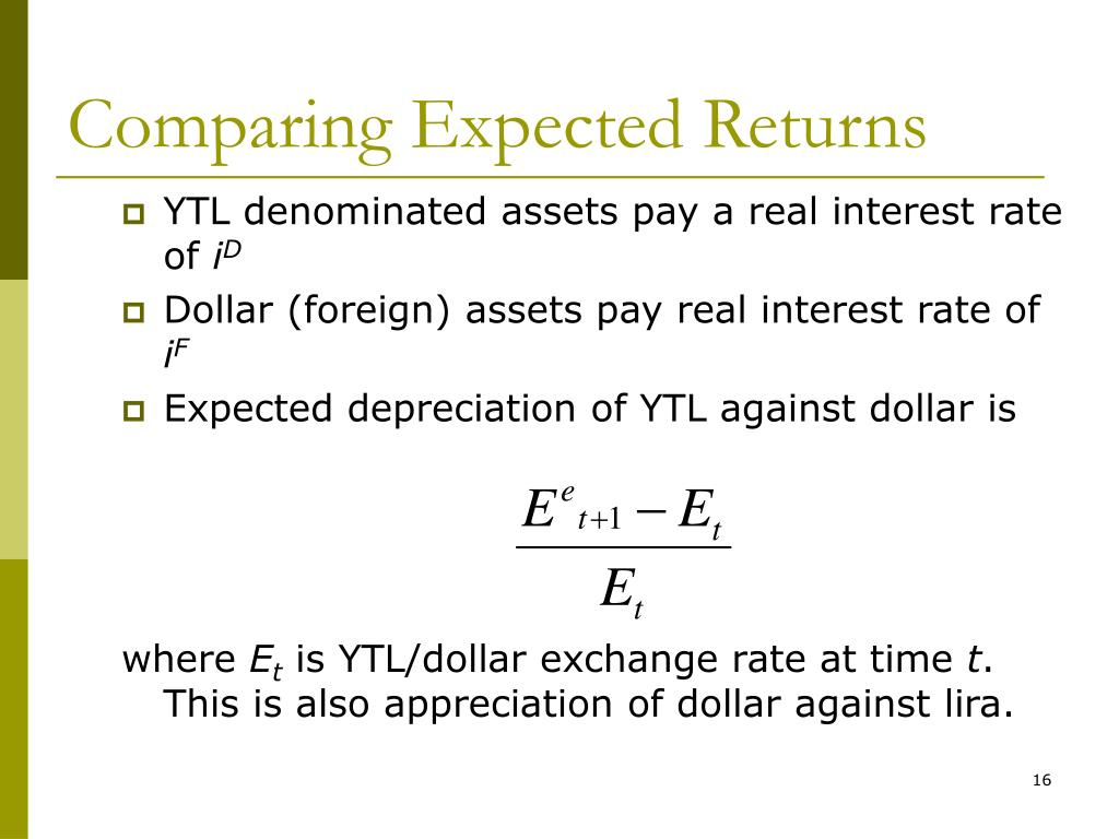 Comparing Expected Returns
