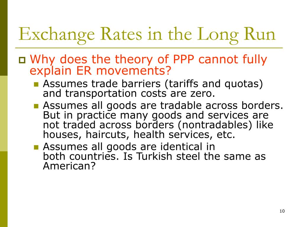 Exchange Rates in the Long Run