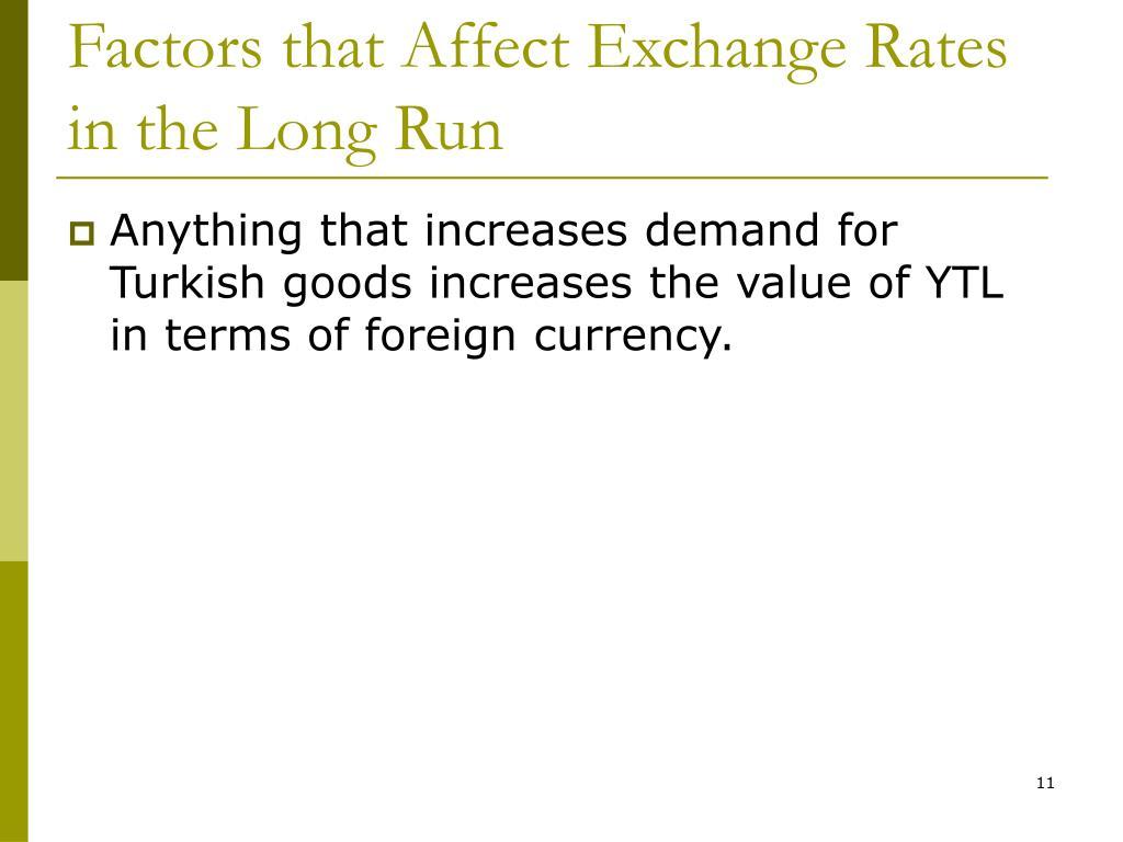 Factors that Affect Exchange Rates