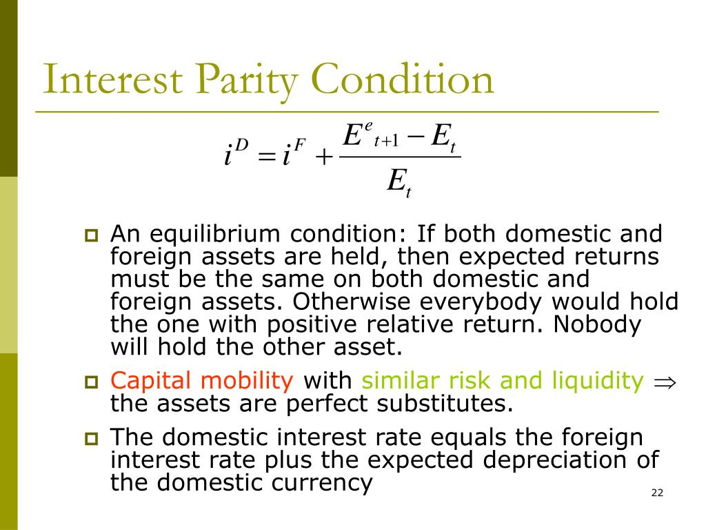 Interest Parity Condition