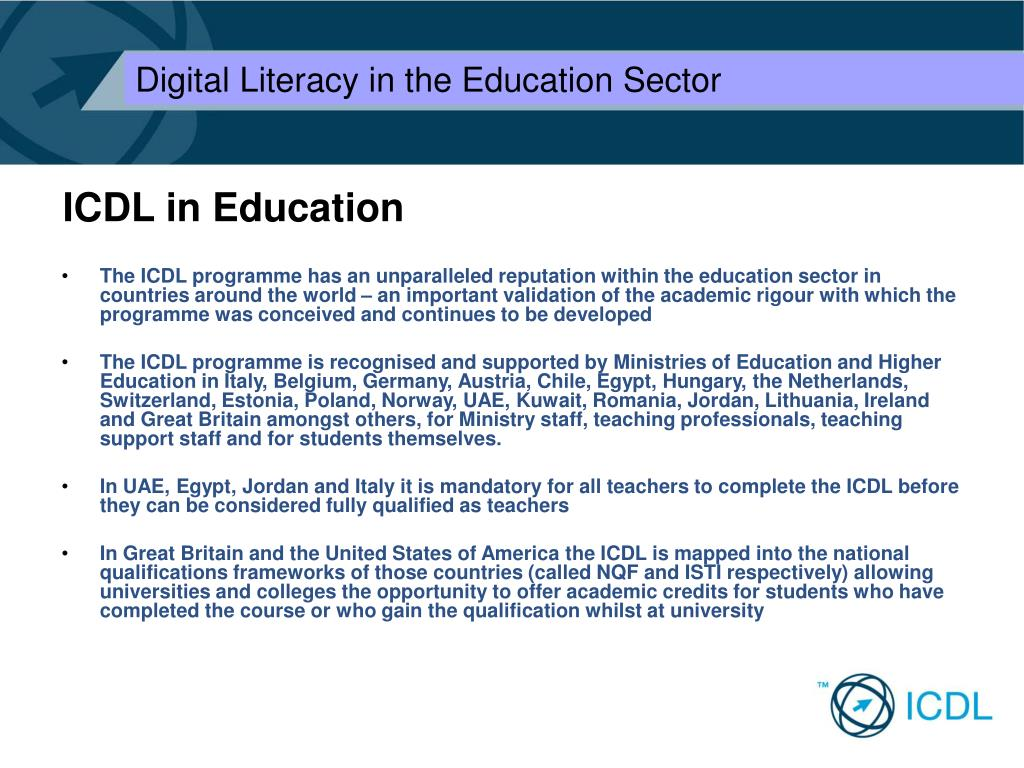 ICDL in Education