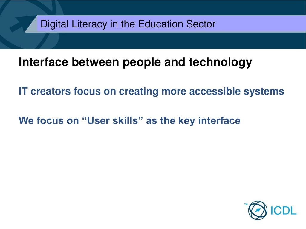 Interface between people and technology