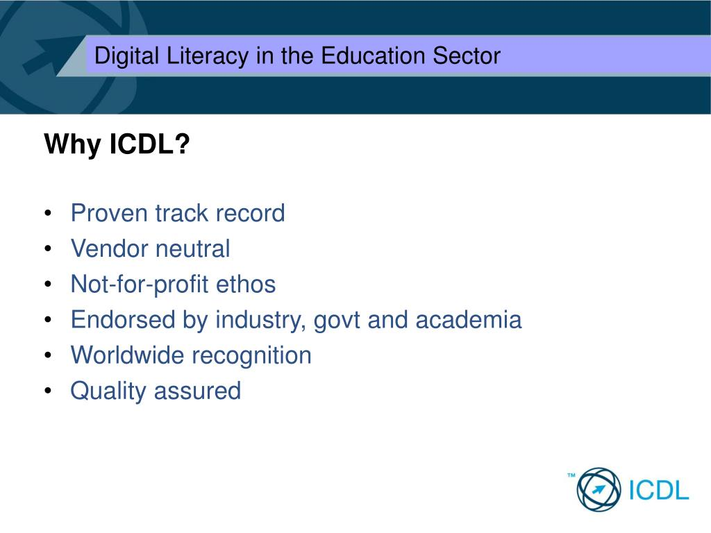 Why ICDL?