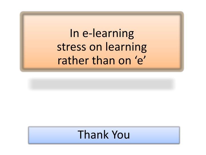 In e-learning