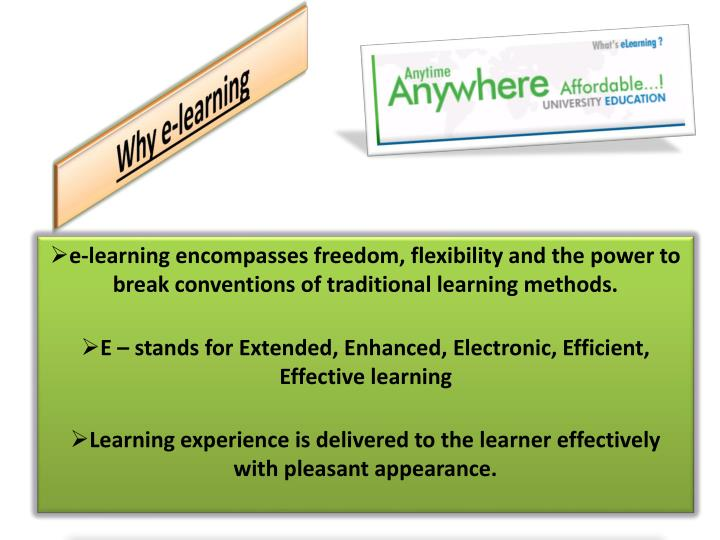 Why e learning