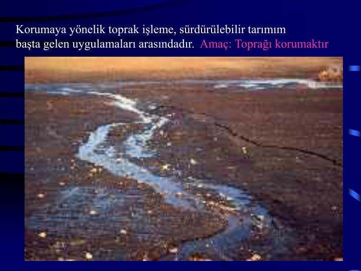 Korumaya yönelik toprak işleme, sürdürülebilir tarımım