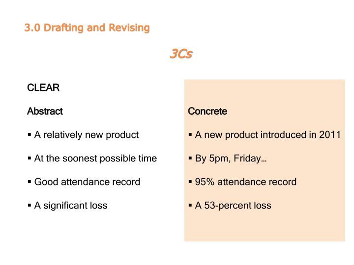 3.0 Drafting and Revising