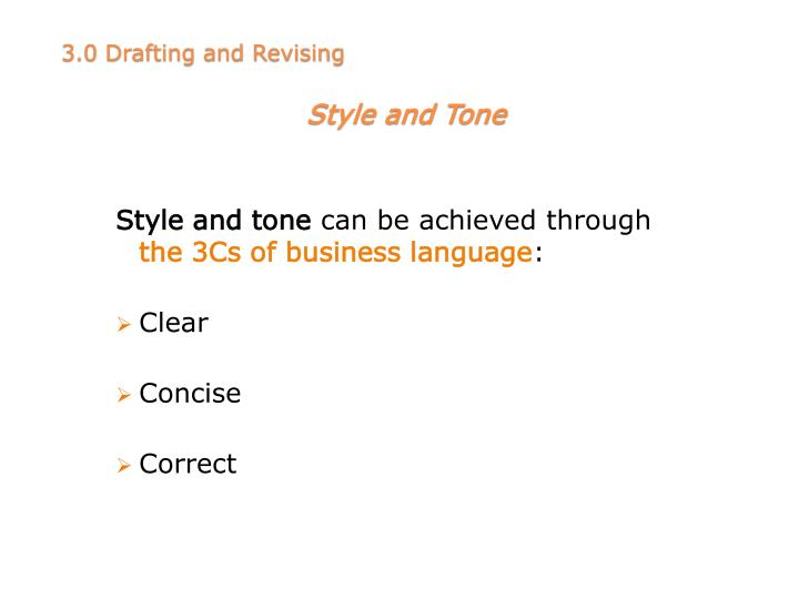 Style and tone