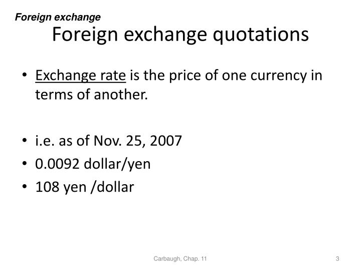 Foreign exchange quotations