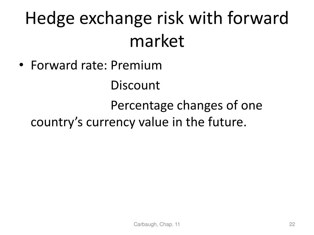 Hedge exchange risk with forward market