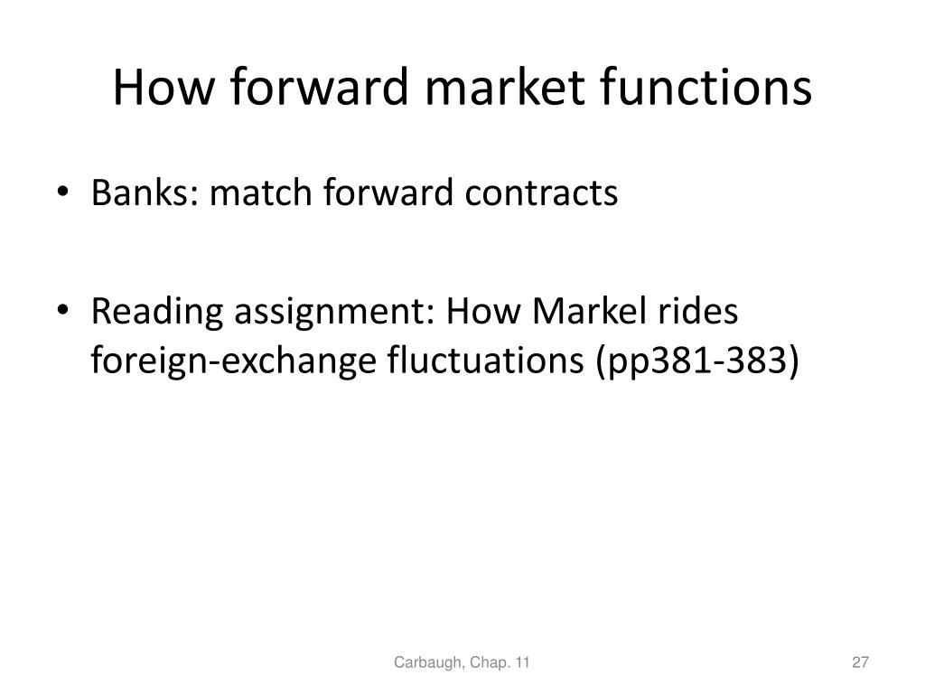How forward market functions