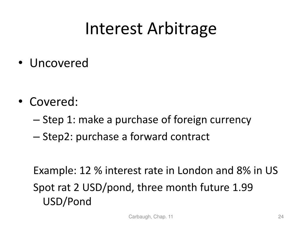 Interest Arbitrage
